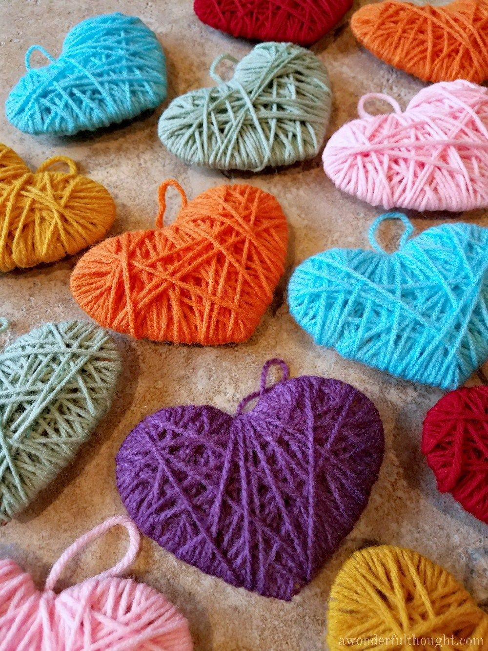 Photo of Multicolored Yarn Heart Garland – A Wonderful Thought