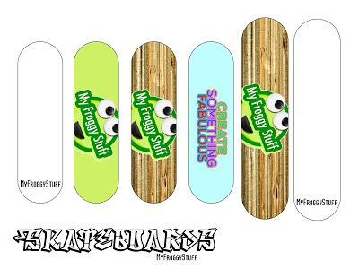 My Froggy Stuff: How to Make Doll Skateboards   Fingerboards   Free