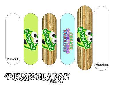 Skateboard Template Printable