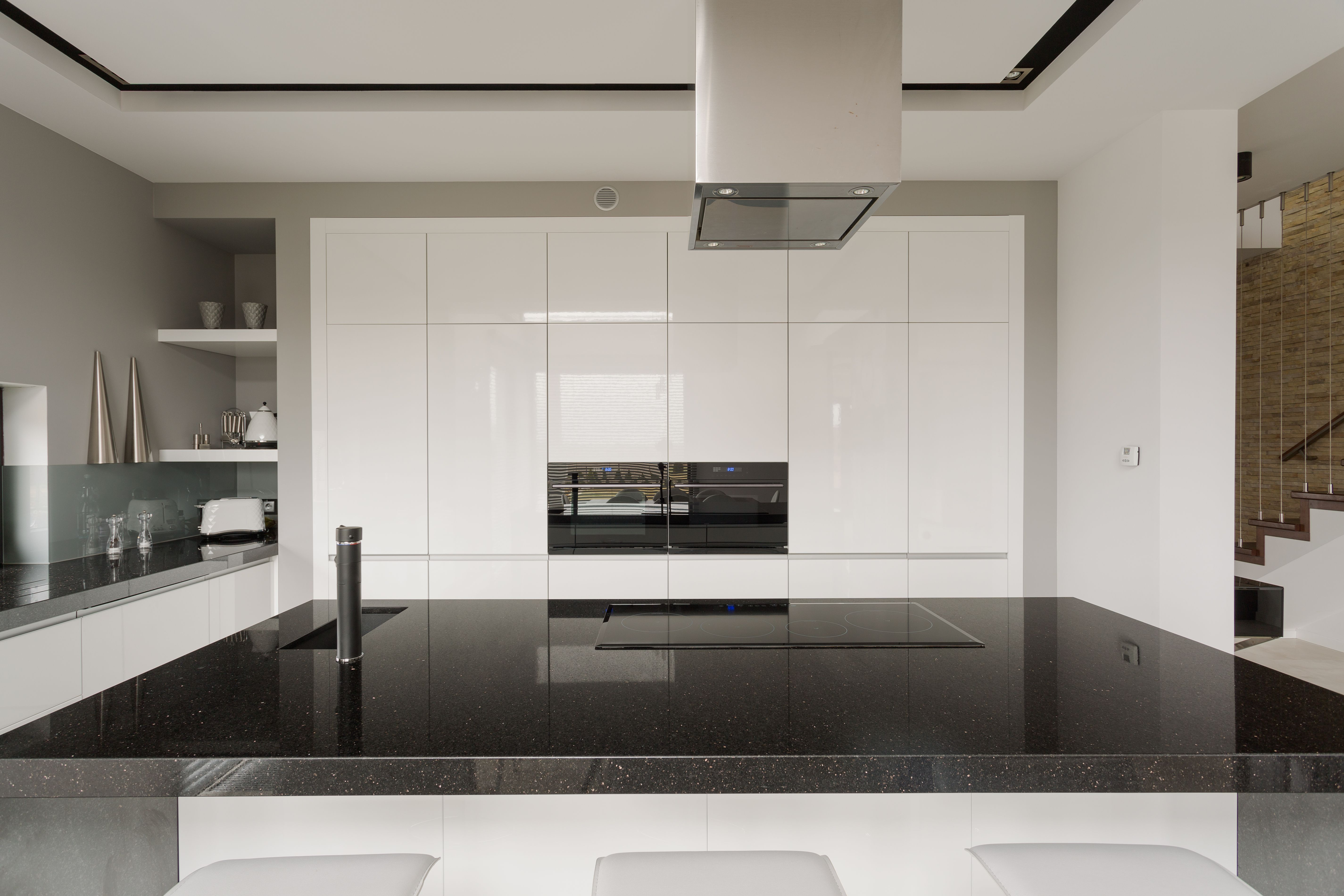 Black is starting to make an appearance as a key kitchen