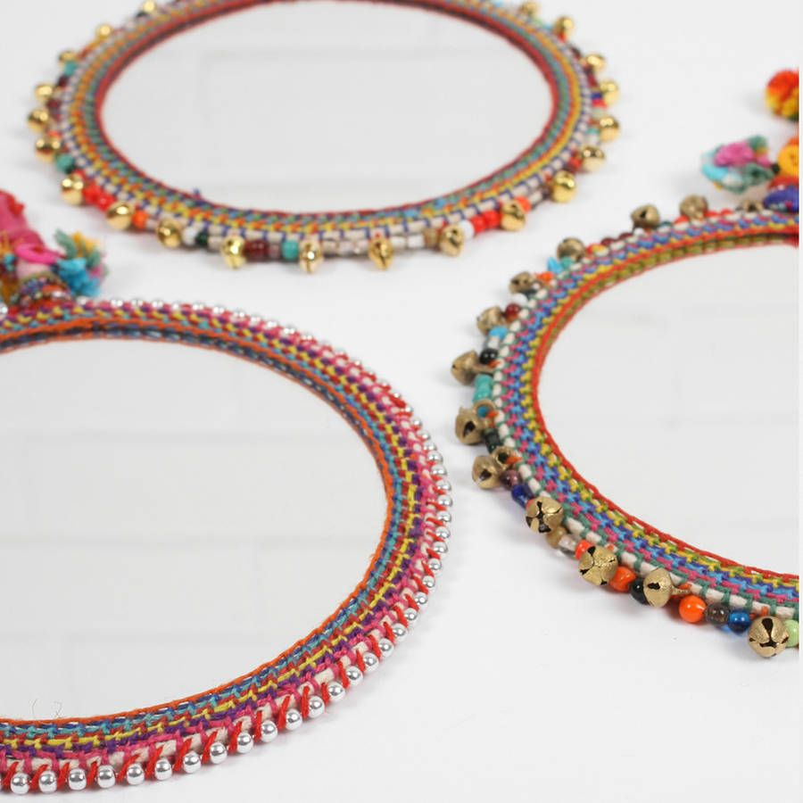 We love our new boho beaded mirrors which are intricately adorned with crochet stitchwork ...