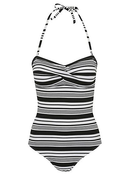 a06d9daf56 Bodysculpt Stripe Bandeau Swimsuit , read reviews and buy online at George  at ASDA. Shop from our latest range in Women. Look and feel great with this  ...