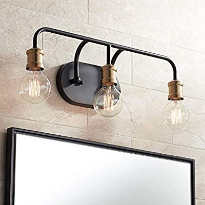 Aras Modern Industrial Wall Light Black Brass Hardwired 20 ... on Non Wired Wall Sconces id=63585