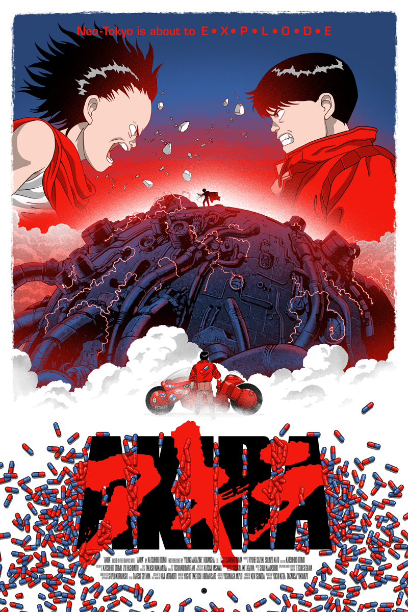 Akira, by Marco Manev #marcomanev #akiraprint   Movie Posters and ...
