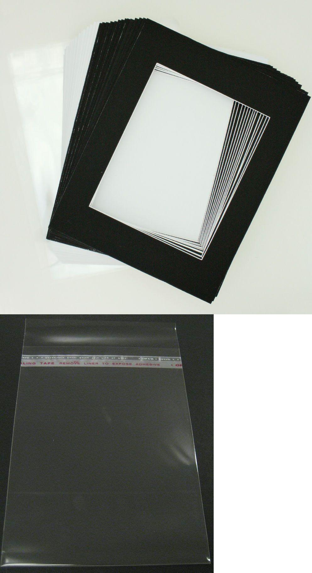 framing mats 37576 50 8 x10 matte black picture mat set white core