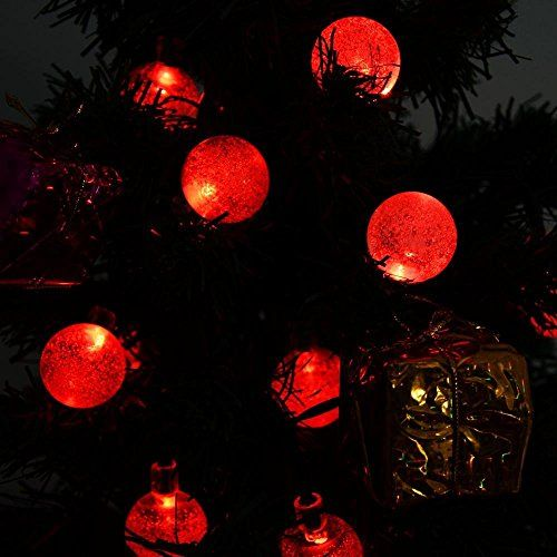 awesome lederTEK Solar Outdoor String Lights 197ft 30 LED Red