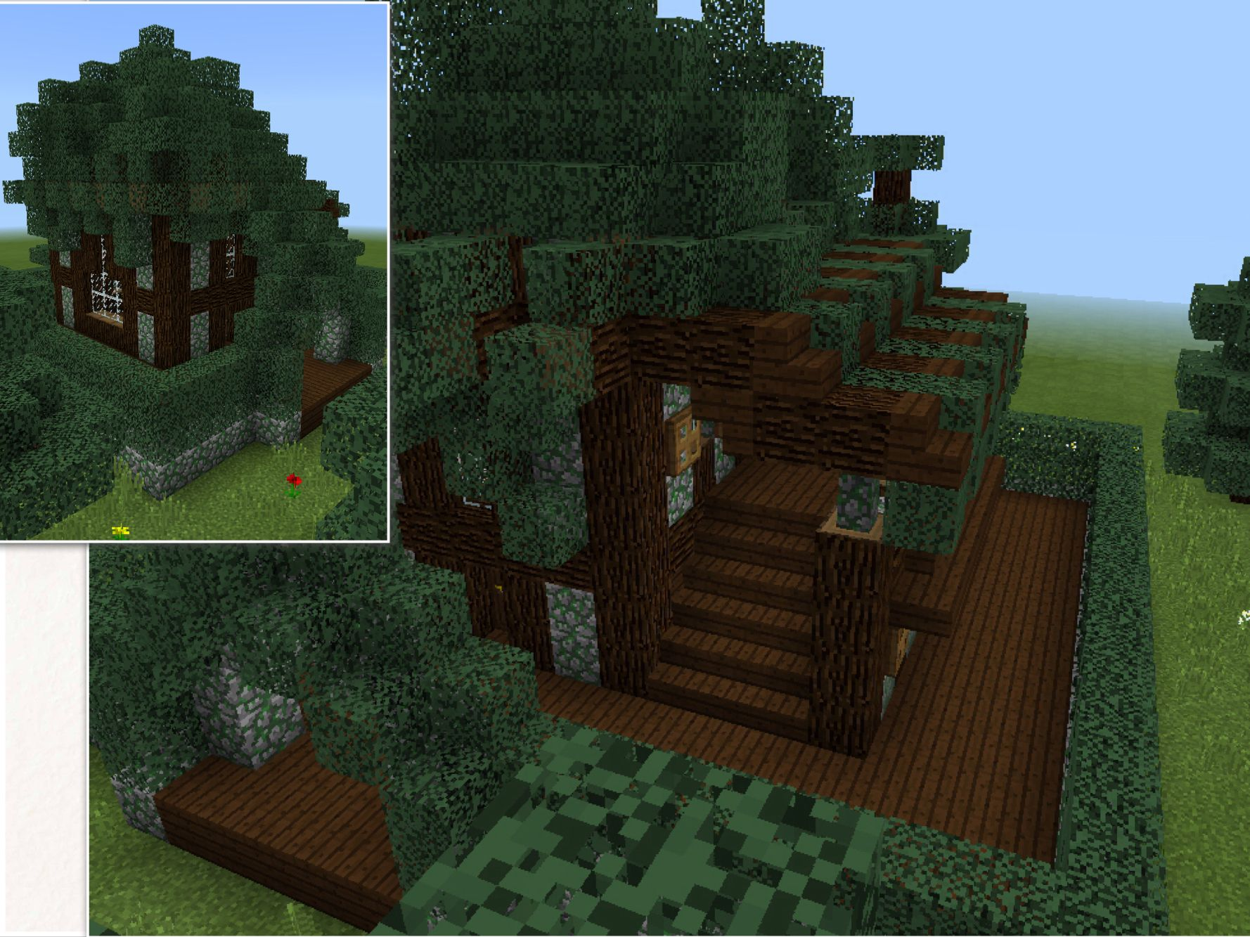 Spruce Dark Oak And Cobblestone Home Minecraft House Designs