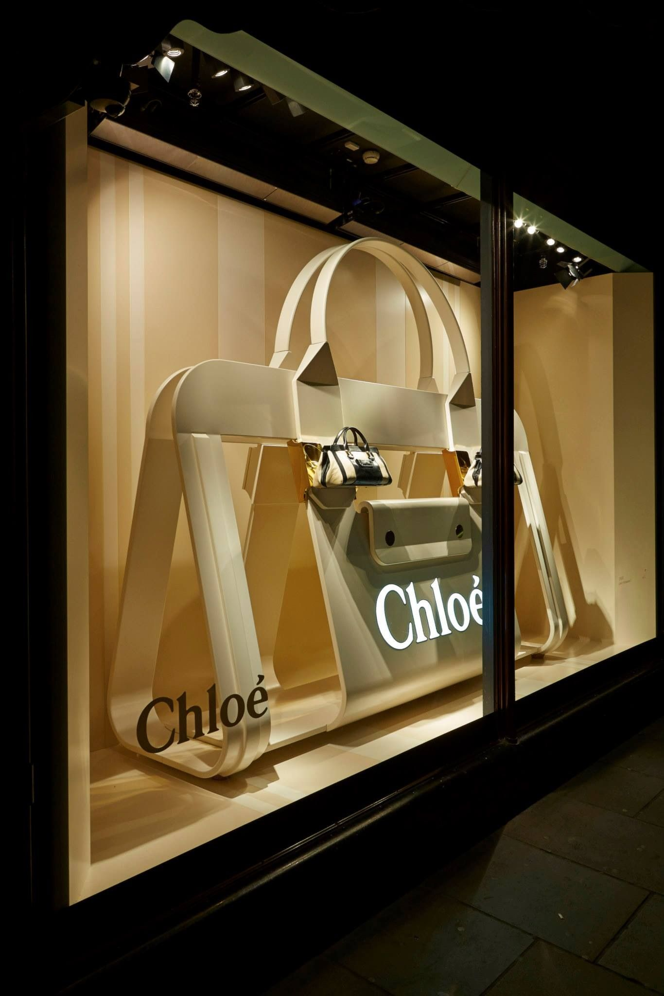 Retail Window Display With Huge Purse Chloe