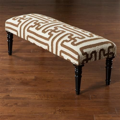 Harney Rustic Bazaar Tan Pattern Ivory Bench In 2021 Wood Turning Bench Rustic