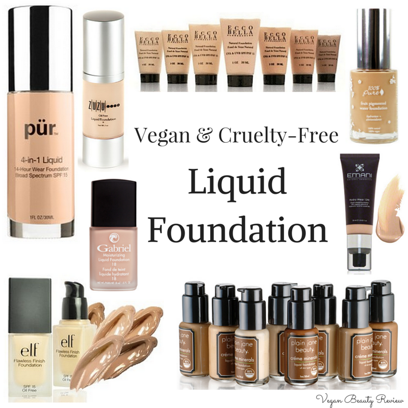 List of Vegan & CrueltyFree Liquid Foundation Cruelty