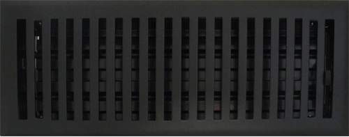 4 X 10 Contemporary Flat Black Floor Register Floor Registers Floor Register Covers Floor Vents