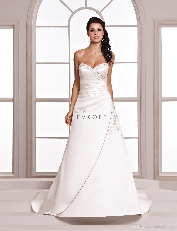 Plus size white wedding dress  Discount Sexy  Vintage Purple And White Wedding Dresses