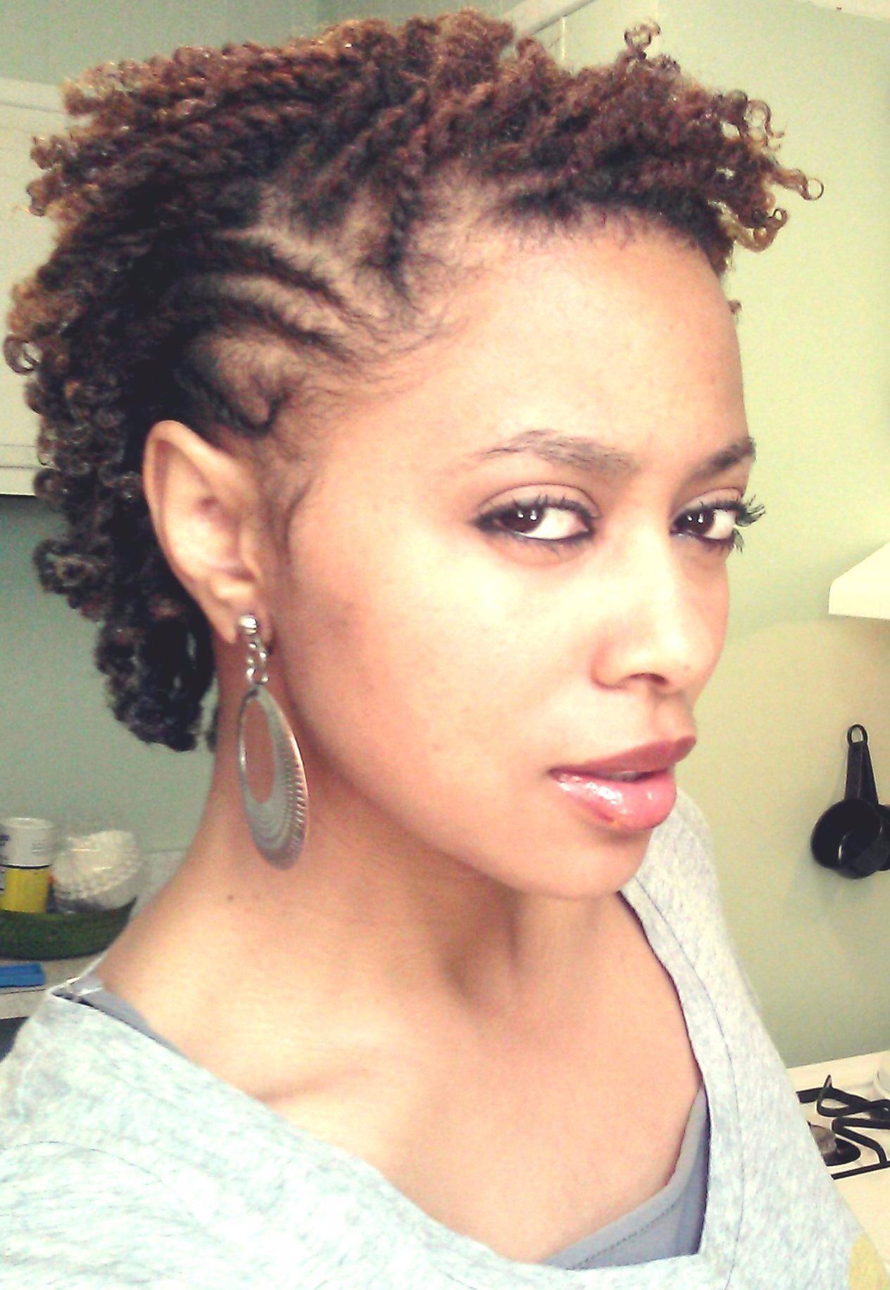 instagram : naturallybrandyysmith natural hair flat twist