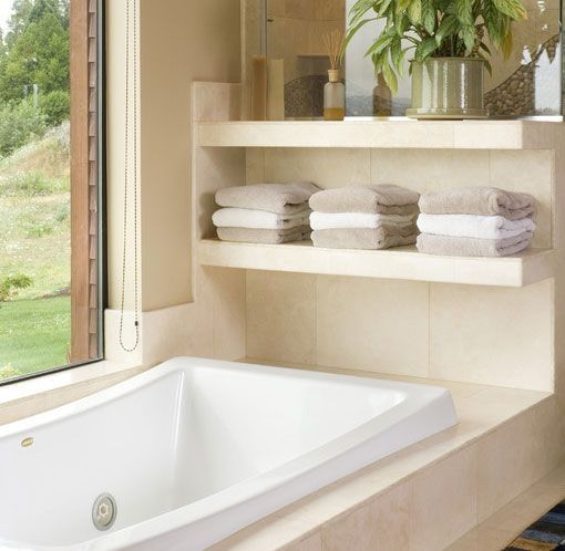 Bathroom Storage Ideas For Small Spaces  Overbathtub Shelves Cool Bathroom Storage For Small Spaces Decorating Inspiration