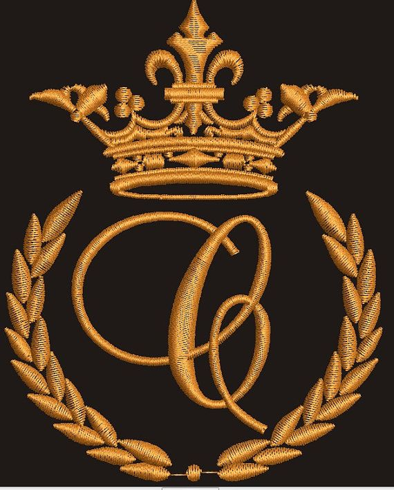C With A Crown : crown, Crown, Laurel, Wreath, Monogram, Letter, Letters,, Wreath,, Machine, Embroidery, Designs