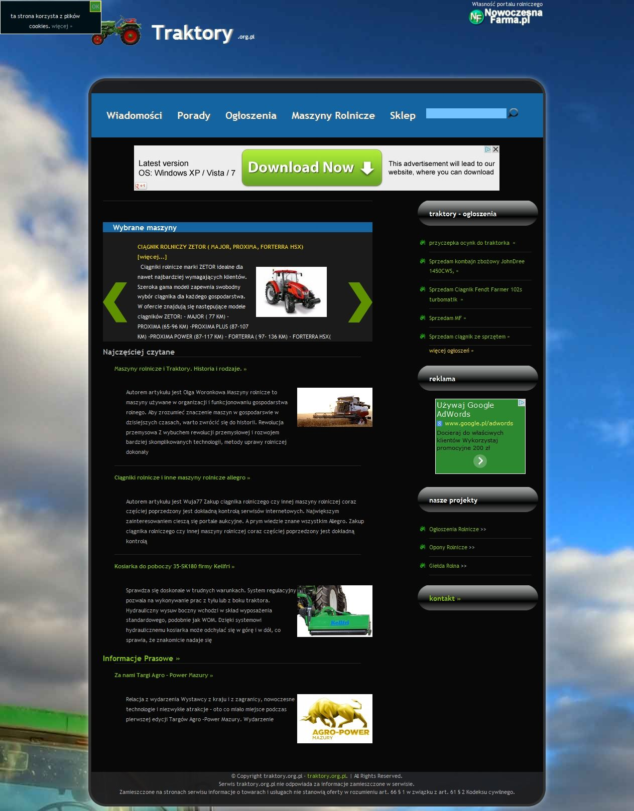 Nasza Strona Http Traktory Org Pl Desktop Screenshot Screenshots