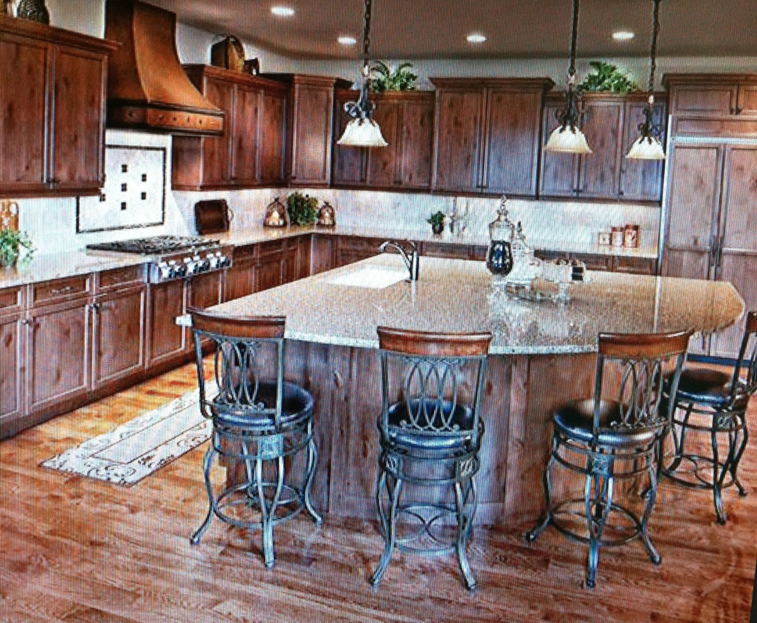 Triangle Kitchen Island