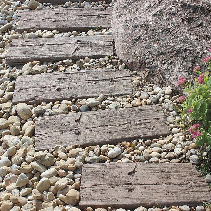 Stone Garden Gehwegplatte Logschwelle Antikbraun 60 X 25 X 4 Cm Cm Beton Haus Und Garten Garten Gehwegplatten