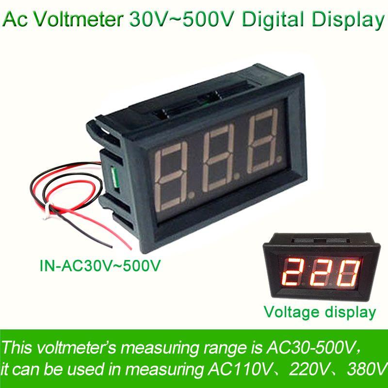Ac 30 فولت 500 فولت الجهد الرقمية الفولتميتر متر سلكين 0 56 110 فولت 220 فولت امدادات الطاقة الكهربائية Voltimetr Digital Radio Frequency Cool Things To Buy