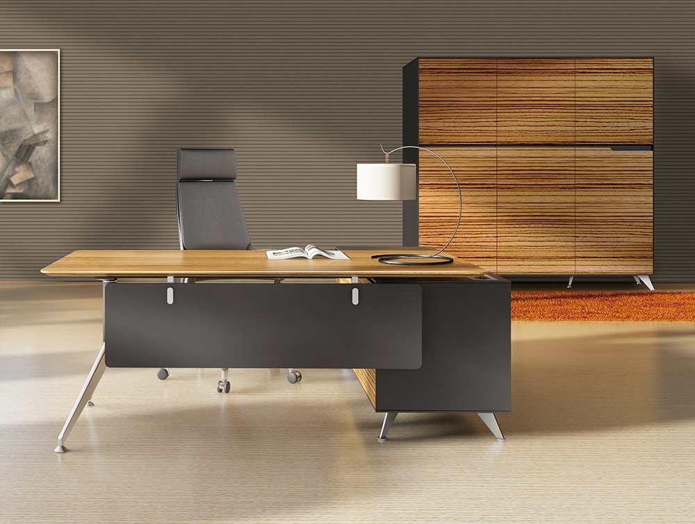 482 Modern Executive Desk In Zebrano By Jesper Office Furniture