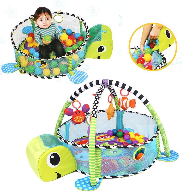 Baby Play Mat Tortoise Cartoon Toys Infant Floor Blanket Educational Gym Mats Kids Rug Activity Climbing
