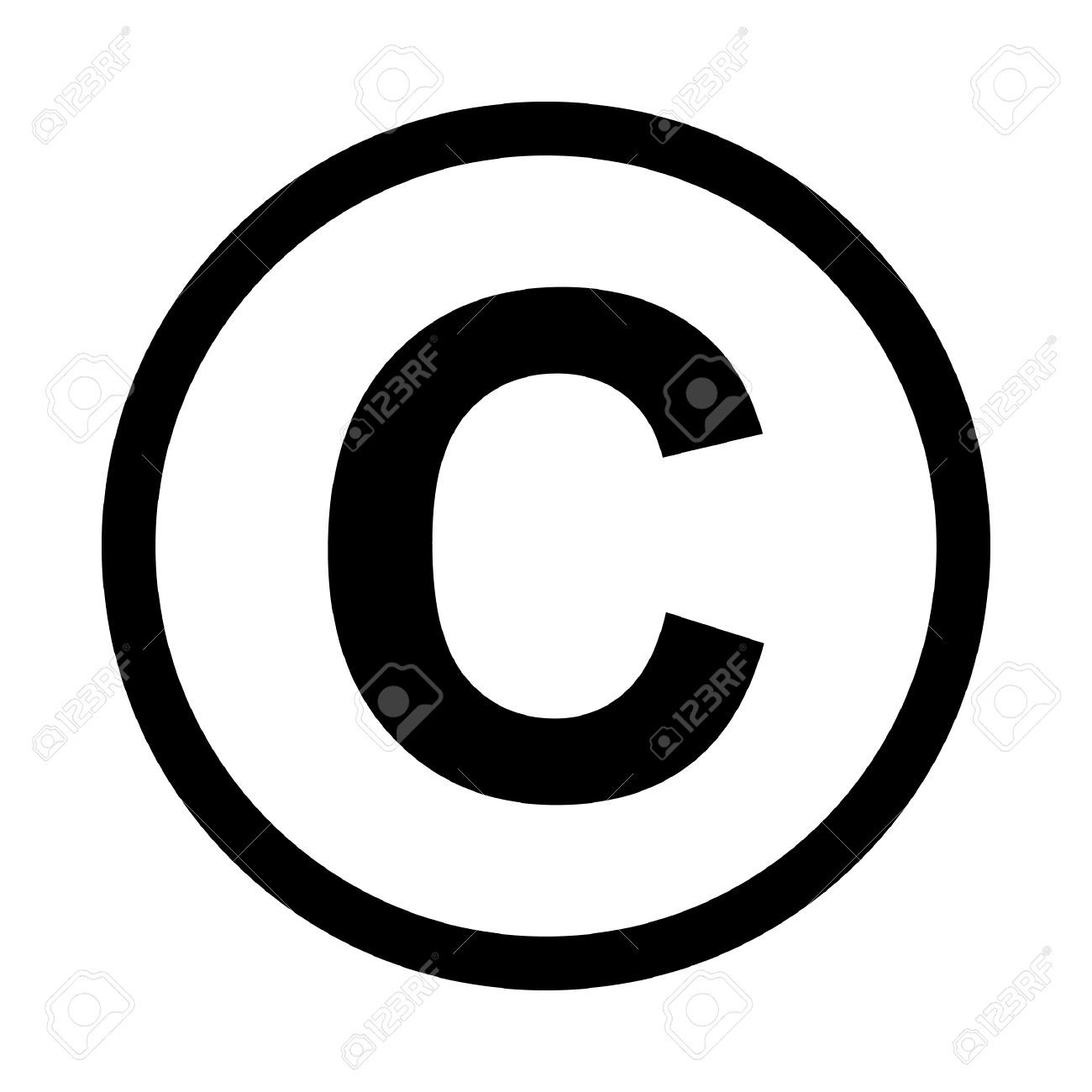 Copyright Symbol Icon Isolated On White Background Art As A