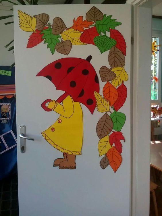 Decoraci n de oto o puertas y ventanas ya est aqu ya for Decoracion puerta aula infantil