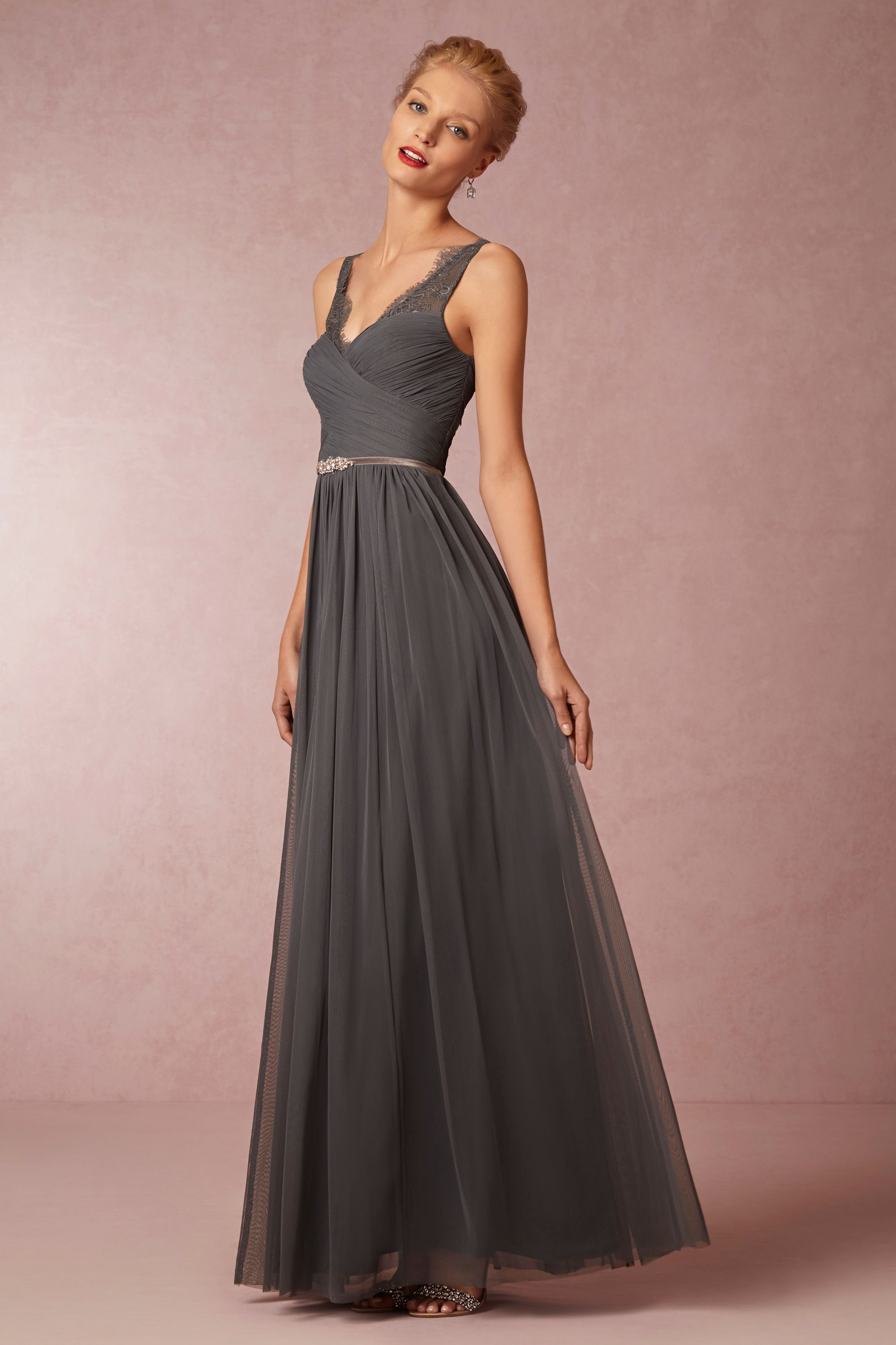 BHLDN\'s Hitherto Fleur Dress in Pewter | Vestidos de noche, Noche y ...
