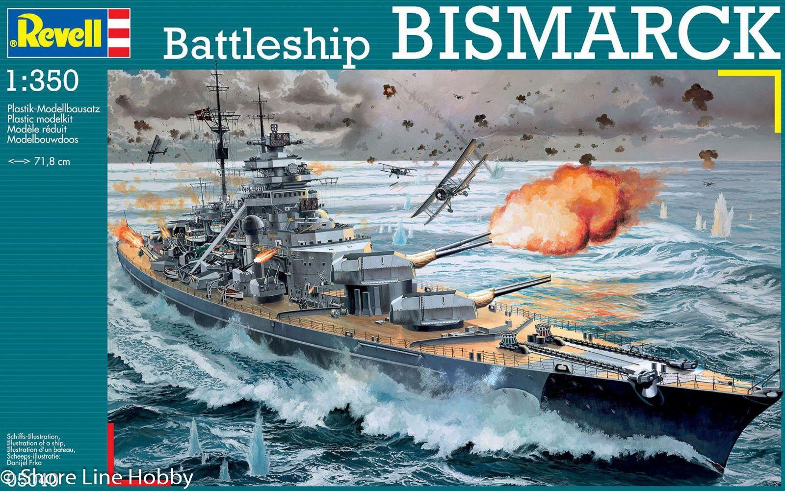 Détails : German Battleship Bismarck Revell 05040 1/350 Model Ship Kit New