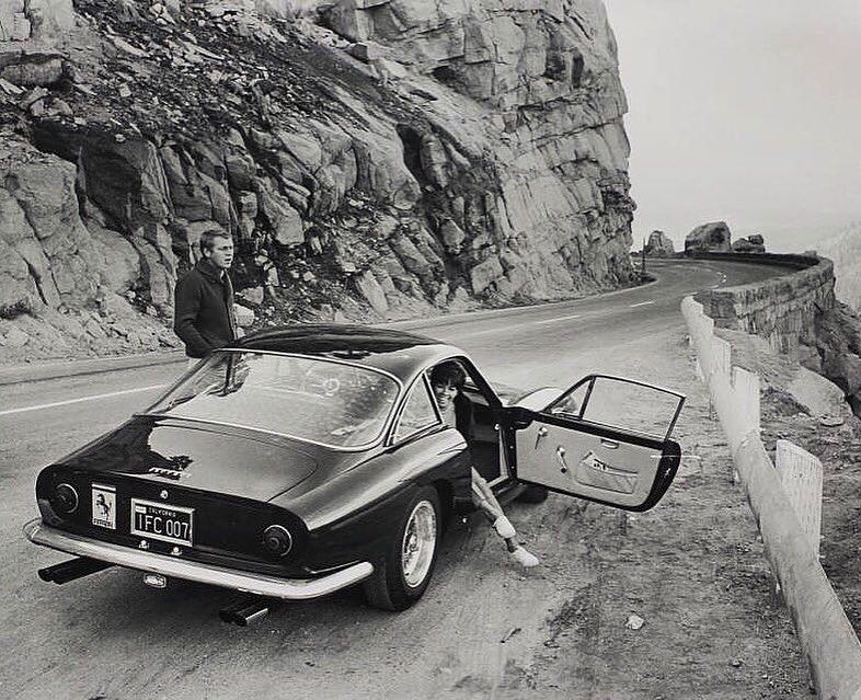"Car&Vintage on Instagram: ""• Little moments big memories. Ferrari 250 GT/L ""Lusso"" with Steve McQueen, the King of cool. • www.carandvintage.com By William Claxton…"""