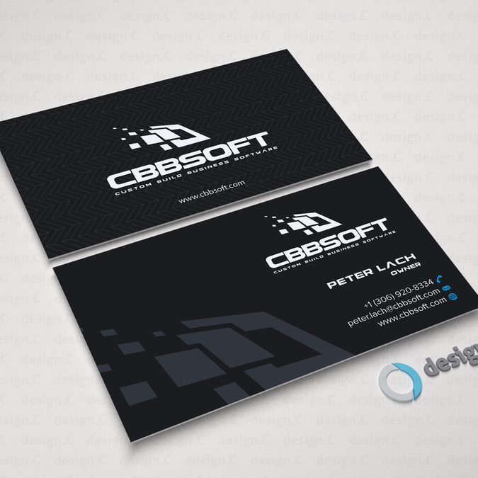 Create a business card design for software development company by create a business card design for software development company by designc reheart Gallery