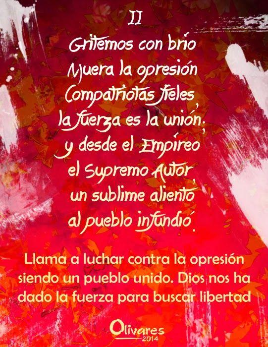 Himno Nacional De Venezuela Ilustrado Estrofa Ii Venezuela Growing Up My Love