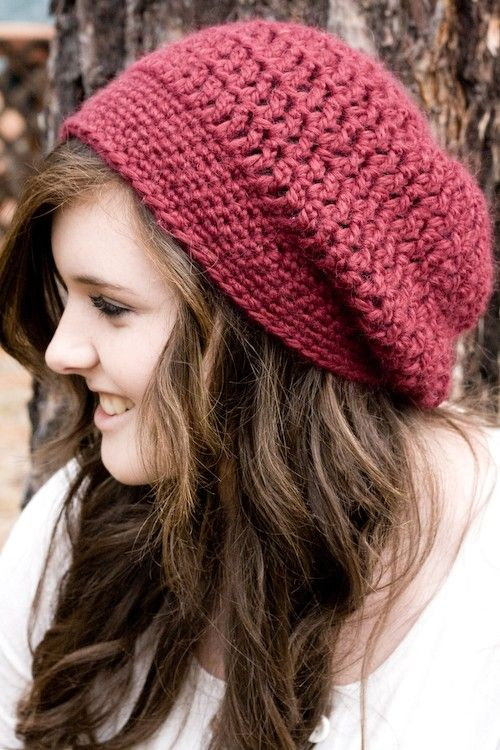 slouchy crochet hat | gorro caido crochet video | Pinterest | Mütze ...