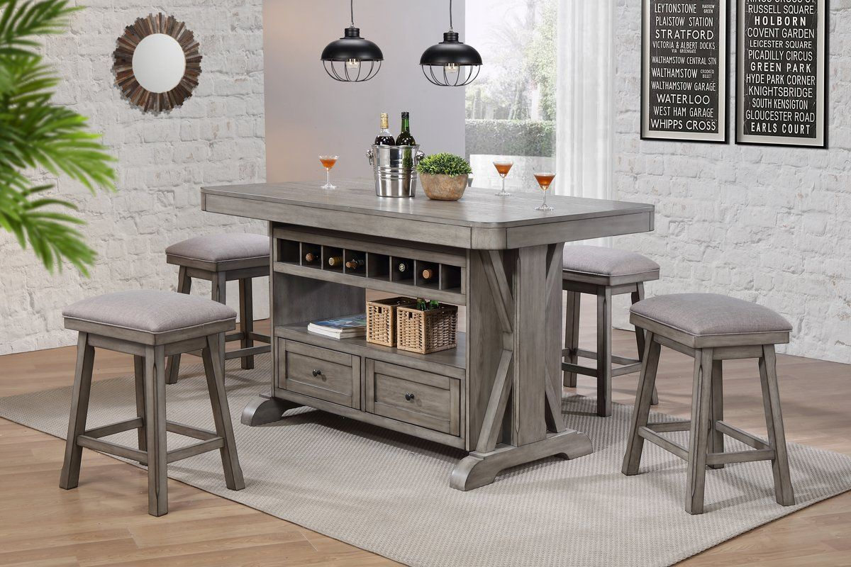 Ophelia Co Vergara Kitchen Island Reviews Wayfair Kitchen Island Table Kitchen Table With Storage Kitchen Island With Seating
