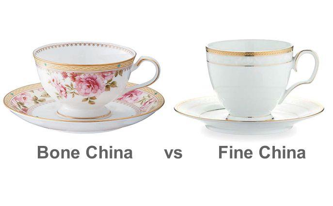 Difference between bone china and fine china  Fine china