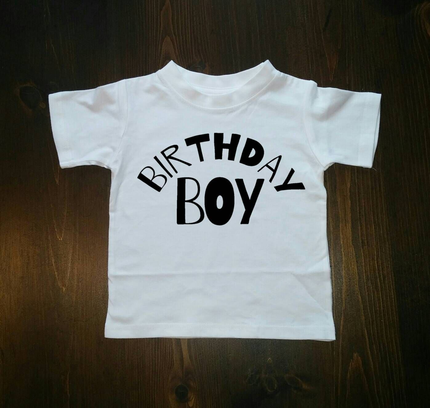 Baby Boy Birthday Shirt, Metallic, Black, Tshirt, First