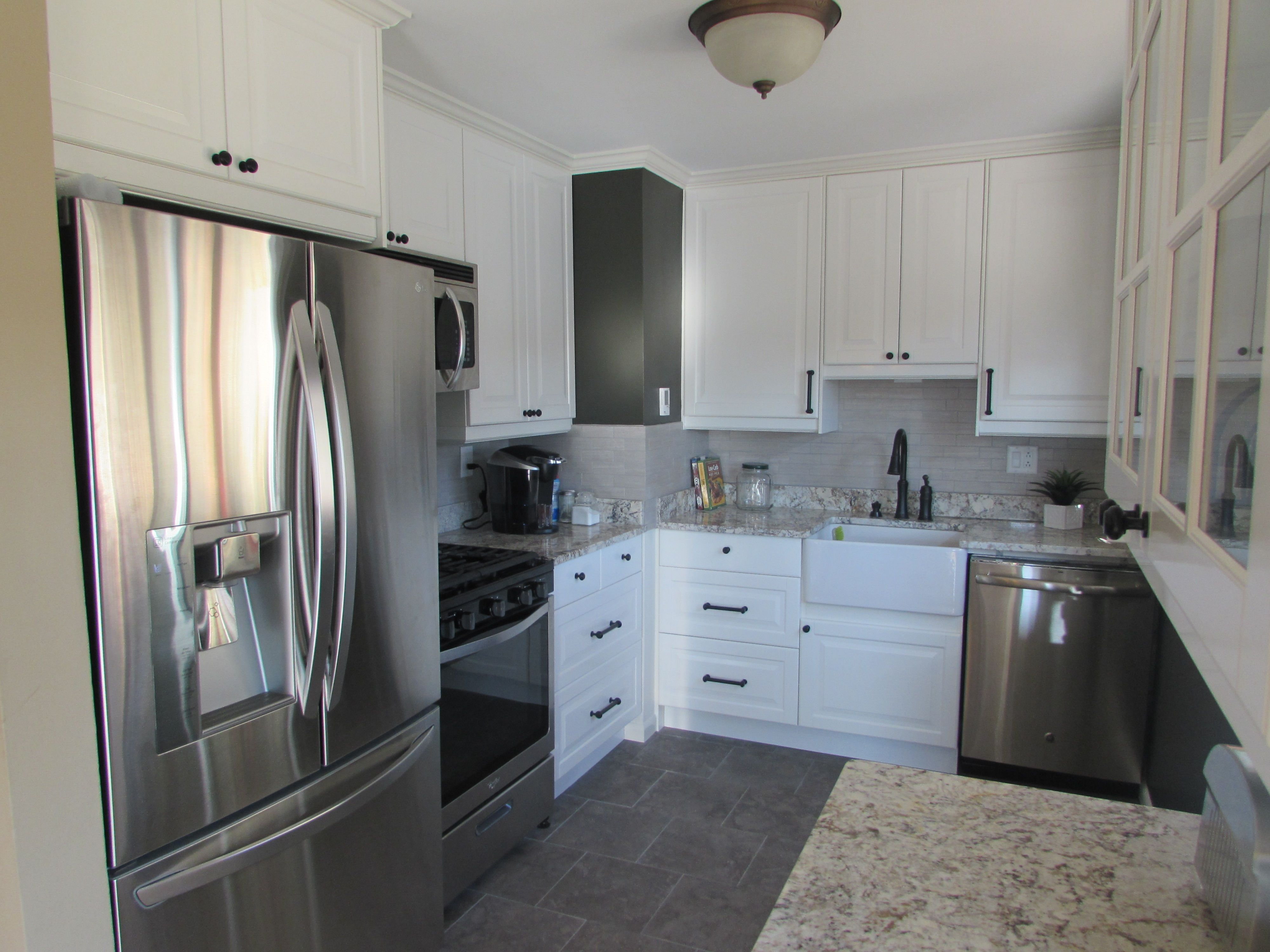 Our Small 50 S Kitchen Makeover Ikea Lindingo Cabinets White