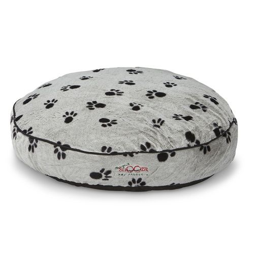 Awesome Snooza Shapes Round Dog Bed Silver Black Paws Lucky Pet Creativecarmelina Interior Chair Design Creativecarmelinacom