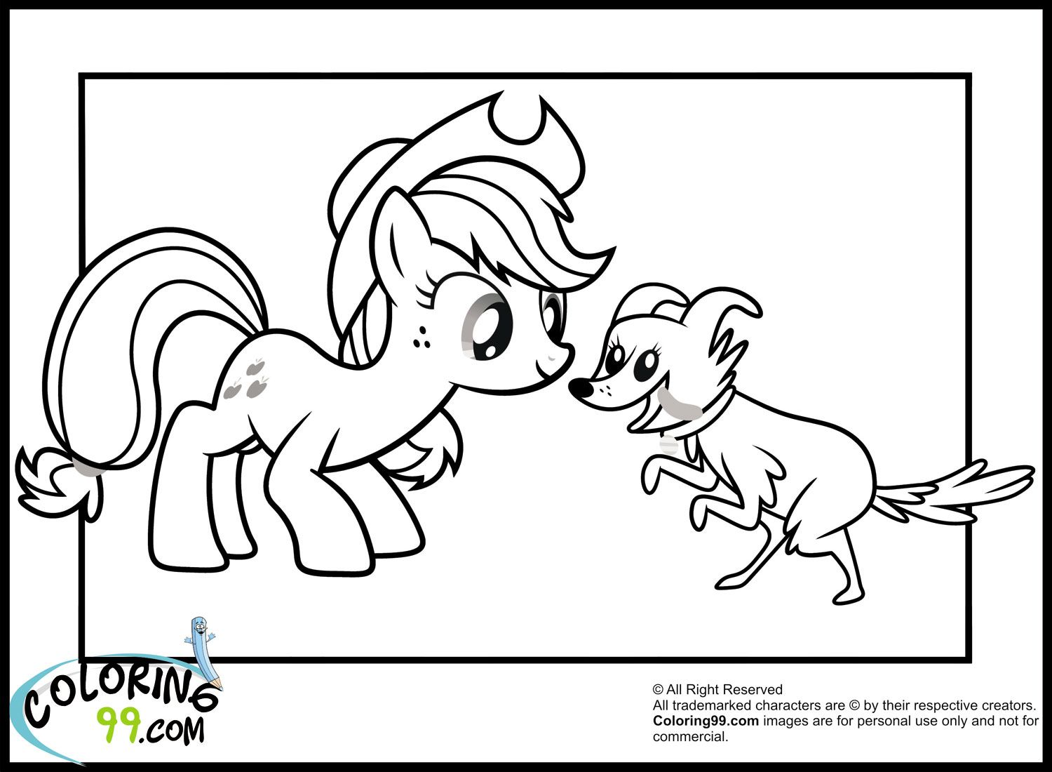 Applejack Coloring Page Coloring Pages Pinterest