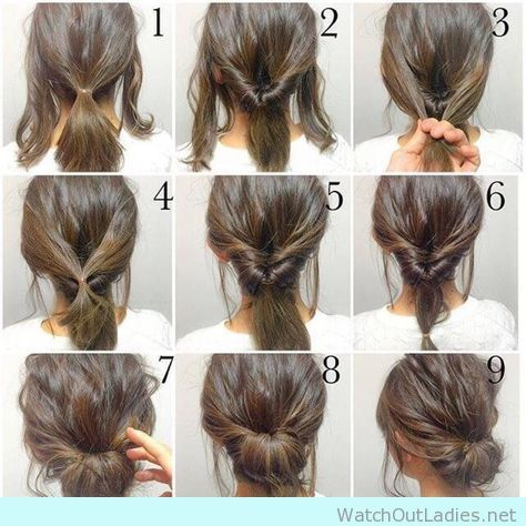 Simple And Pretty Updo Tutorial Jpg 474 474 Hair Styles Short Hair Styles Work Hairstyles