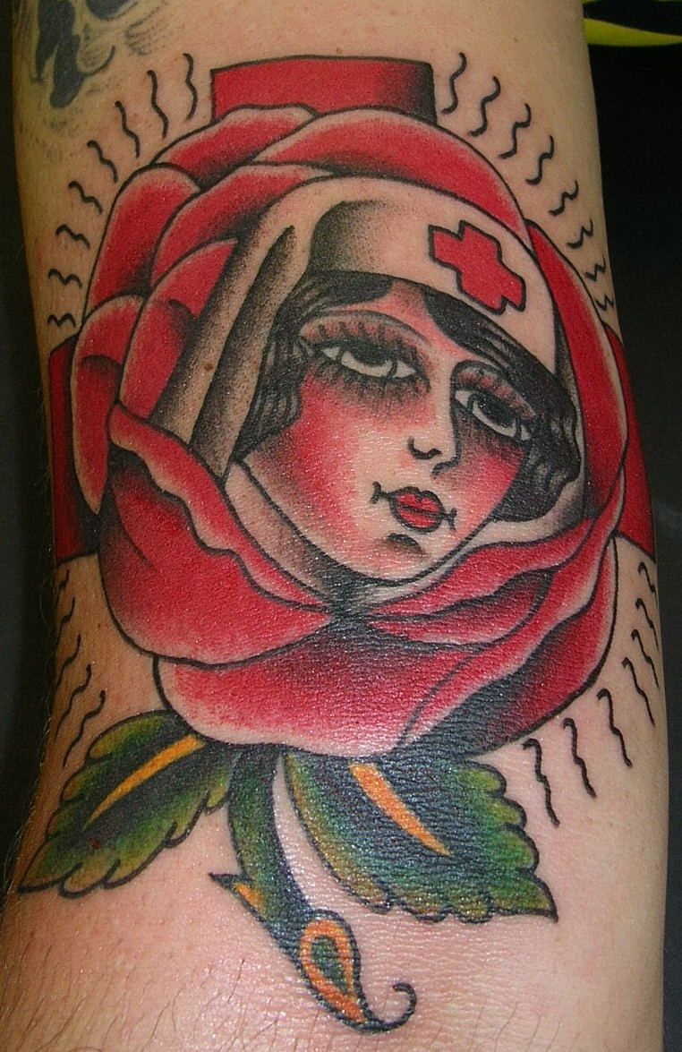 17d910875 Traditional Rose of No Mans Land Tattoo | Tattoos by Krooked Ken ...