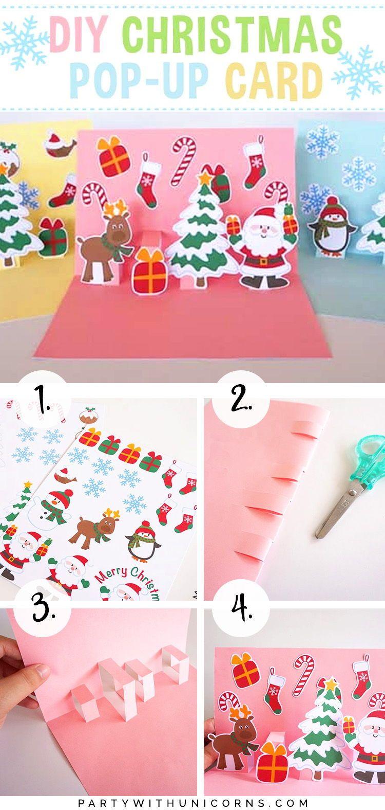 Diy christmas popup card for kids cricut christmas