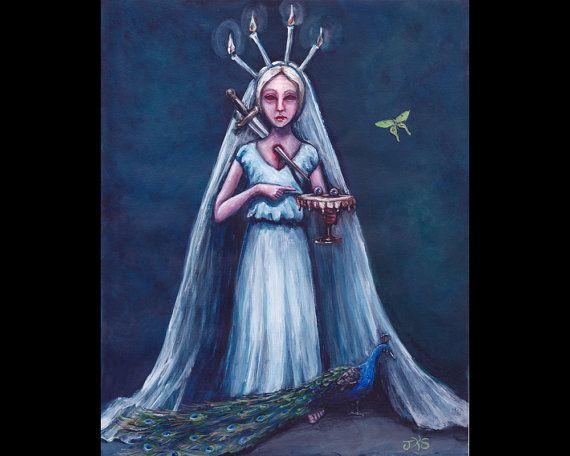 Saint Lucy Original Painting by mygoodbabushka on Etsy.