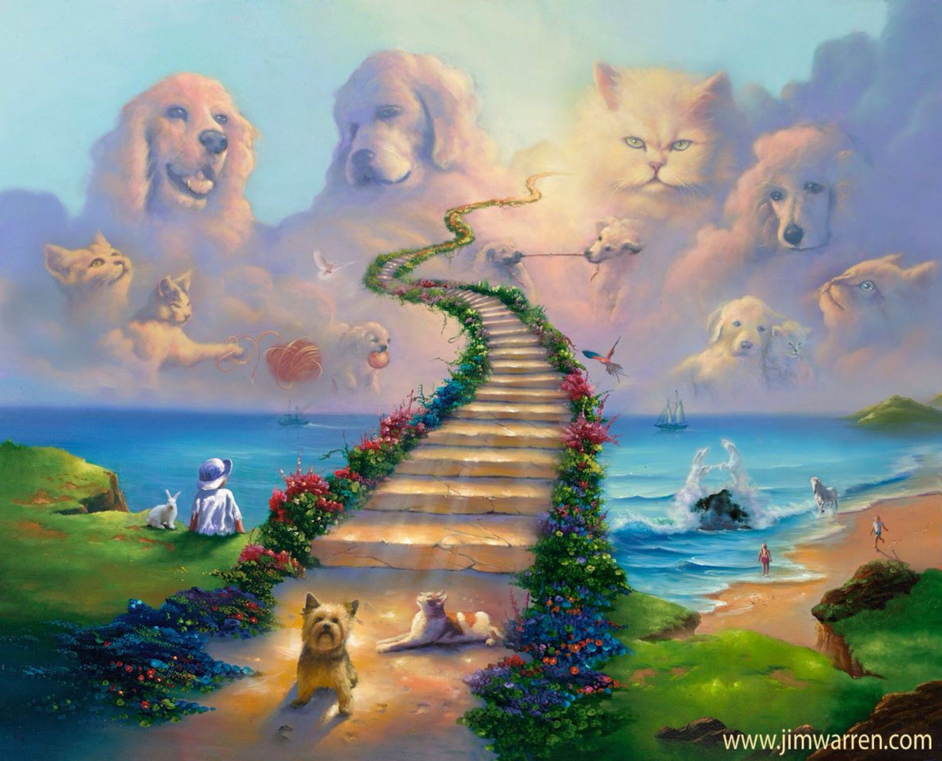 All Pets Go To Heaven Rainbow Bridge Dog Heaven Animal Wall