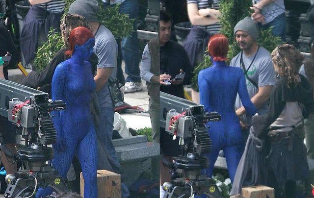 Mystique jennifer lawrence xmen days of future past  | ... Jennifer Lawrence como Mystique en el set de 'X-Men: Days of Future