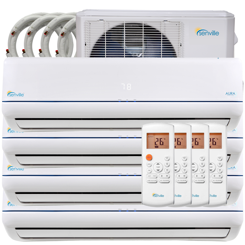 36000 BTU Quad Zone Mini Split Air Conditioner Heat Pump