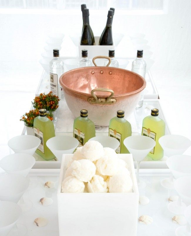 Italian frozen cocktail bar with champagne, sorbet & limoncello