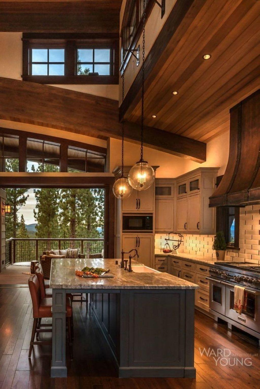 34 Inspiring Wooden House Design Ideas For Interior And Exterior Design Rustic Kitchen Design Rustic Modern Kitchen Rustic Kitchen Decor