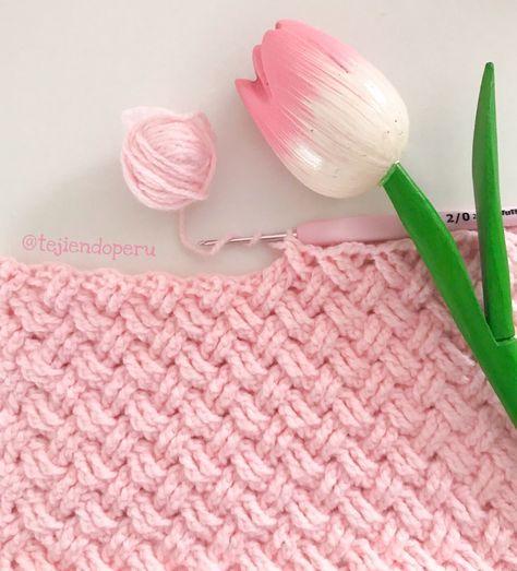 Crochet: punto celta paso a paso . Crochet Celtic Stitch   Patrones ...