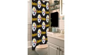 Nfl 903 Steelers Shower Curtain Fabric Shower Curtains Shower Curtains Walmart Shower Curtain Hooks